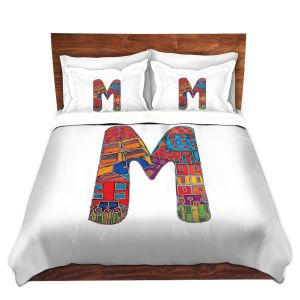 Artistic Duvet Covers and Shams Bedding | Dora Ficher - Alphabet Letter M