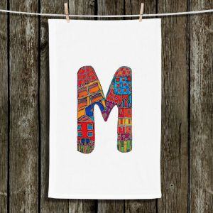 Unique Bathroom Towels | Dora Ficher - Alphabet Letter M