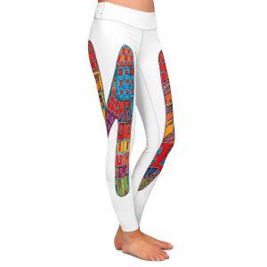 Casual Comfortable Leggings | Dora Ficher Alphabet Letter M