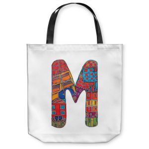 Unique Shoulder Bag Tote Bags | Dora Ficher Alphabet Letter M