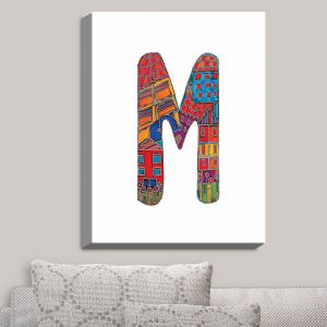 Decorative Canvas Wall Art | Dora Ficher - Alphabet Letter M