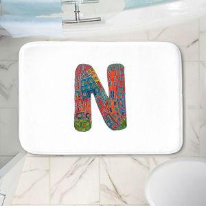 Decorative Bathroom Mats   Dora Ficher - Alphabet Letter N