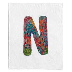 Artistic Sherpa Pile Blankets | Dora Ficher Alphabet Letter N