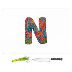 Artistic Kitchen Bar Cutting Boards | Dora Ficher - Alphabet Letter N