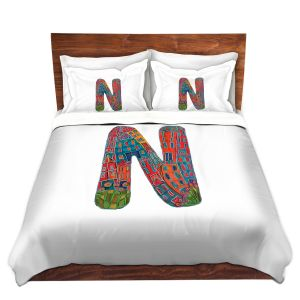 Artistic Duvet Covers and Shams Bedding | Dora Ficher - Alphabet Letter N