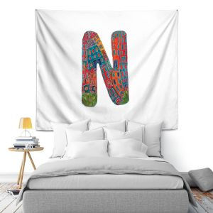 Artistic Wall Tapestry | Dora Ficher Alphabet Letter N