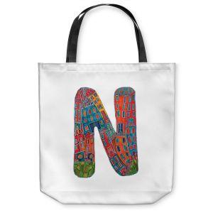 Unique Shoulder Bag Tote Bags | Dora Ficher Alphabet Letter N