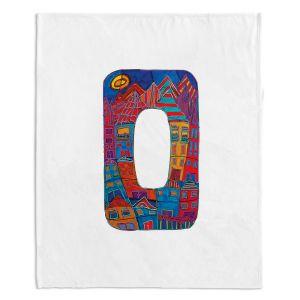 Artistic Sherpa Pile Blankets | Dora Ficher Alphabet Letter O