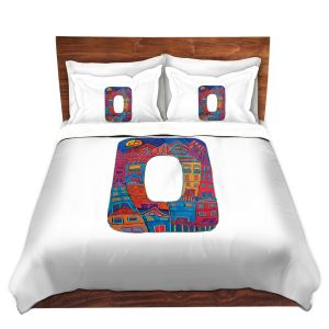 Artistic Duvet Covers and Shams Bedding | Dora Ficher - Alphabet Letter O