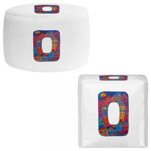 Round and Square Ottoman Foot Stools | Dora Ficher - Alphabet Letter O
