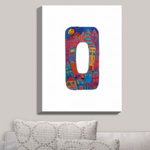 Decorative Canvas Wall Art | Dora Ficher - Alphabet Letter O