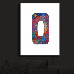 Nightlight Sconce Canvas Light | Dora Ficher - Alphabet Letter O