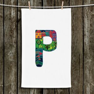 Unique Bathroom Towels | Dora Ficher - Alphabet Letter P