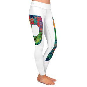 Casual Comfortable Leggings | Dora Ficher Alphabet Letter P