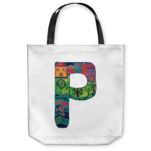 Unique Shoulder Bag Tote Bags | Dora Ficher Alphabet Letter P