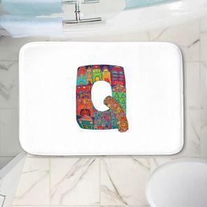 Decorative Bathroom Mats   Dora Ficher - Alphabet Letter Q