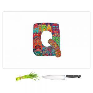 Artistic Kitchen Bar Cutting Boards   Dora Ficher - Alphabet Letter Q