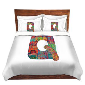 Artistic Duvet Covers and Shams Bedding | Dora Ficher - Alphabet Letter Q