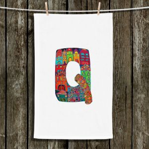 Unique Bathroom Towels | Dora Ficher - Alphabet Letter Q