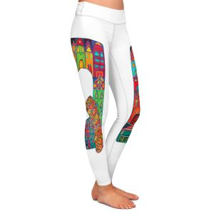 Casual Comfortable Leggings | Dora Ficher Alphabet Letter Q