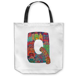 Unique Shoulder Bag Tote Bags | Dora Ficher Alphabet Letter Q