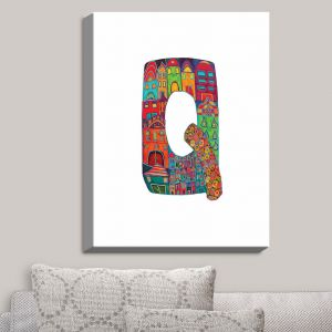 Decorative Canvas Wall Art | Dora Ficher - Alphabet Letter Q