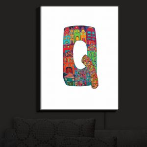 Nightlight Sconce Canvas Light | Dora Ficher - Alphabet Letter Q