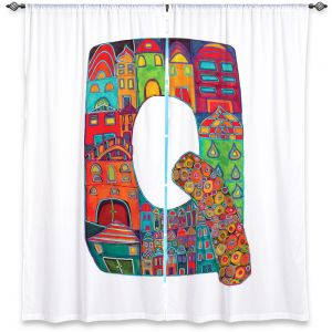 Decorative Window Treatments | Dora Ficher Alphabet Letter Q