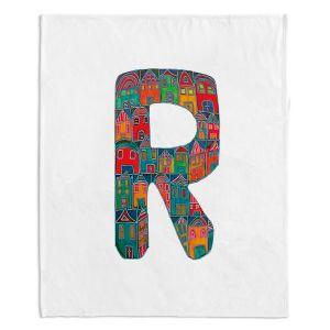 Artistic Sherpa Pile Blankets | Dora Ficher Alphabet Letter R