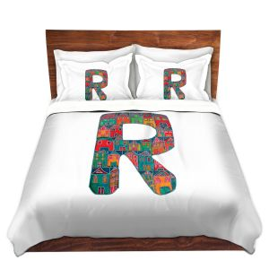 Artistic Duvet Covers and Shams Bedding | Dora Ficher - Alphabet Letter R