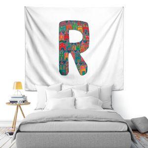 Artistic Wall Tapestry | Dora Ficher Alphabet Letter R