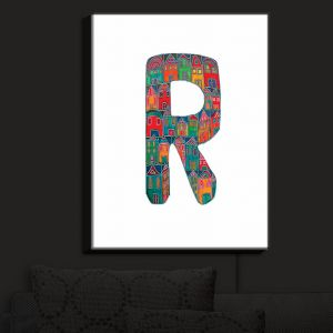 Nightlight Sconce Canvas Light | Dora Ficher - Alphabet Letter R