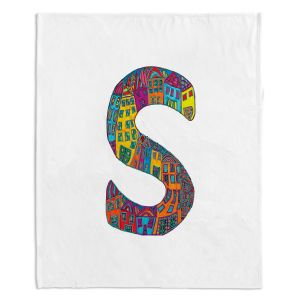 Artistic Sherpa Pile Blankets | Dora Ficher Alphabet Letter S