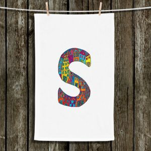 Unique Bathroom Towels | Dora Ficher - Alphabet Letter S