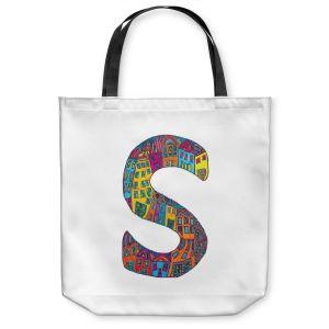 Unique Shoulder Bag Tote Bags | Dora Ficher Alphabet Letter S