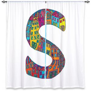 Decorative Window Treatments | Dora Ficher Alphabet Letter S