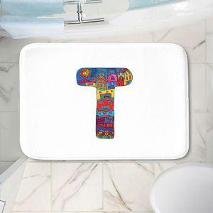 Decorative Bathroom Mats   Dora Ficher - Alphabet Letter T