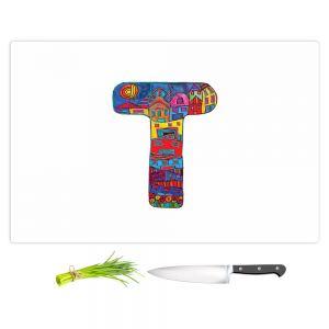 Artistic Kitchen Bar Cutting Boards | Dora Ficher - Alphabet Letter T