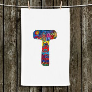 Unique Hanging Tea Towels | Dora Ficher - Alphabet Letter T | Children Letters