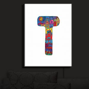 Nightlight Sconce Canvas Light | Dora Ficher - Alphabet Letter T