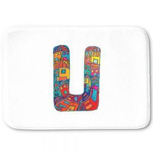 Decorative Bathroom Mats | Dora Ficher - Alphabet Letter U