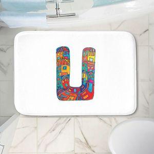 Decorative Bathroom Mats   Dora Ficher - Alphabet Letter U