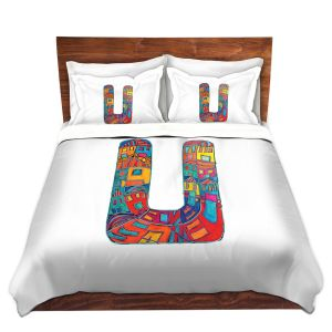 Artistic Duvet Covers and Shams Bedding | Dora Ficher - Alphabet Letter U