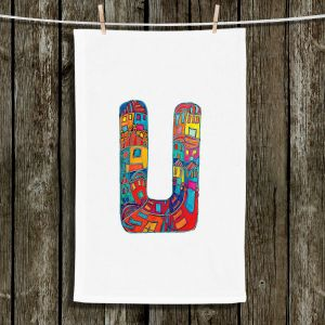 Unique Bathroom Towels | Dora Ficher - Alphabet Letter U
