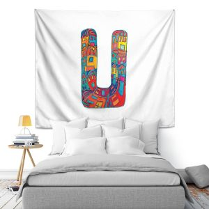 Artistic Wall Tapestry | Dora Ficher Alphabet Letter U