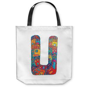 Unique Shoulder Bag Tote Bags | Dora Ficher Alphabet Letter U