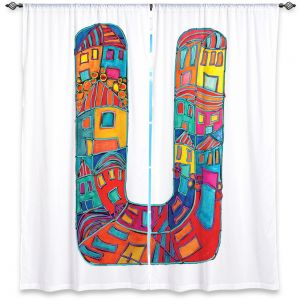 Decorative Window Treatments | Dora Ficher Alphabet Letter U