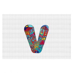 Decorative Floor Coverings | Dora Ficher Alphabet Letter V