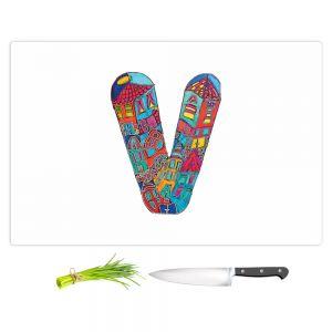 Artistic Kitchen Bar Cutting Boards | Dora Ficher - Alphabet Letter V