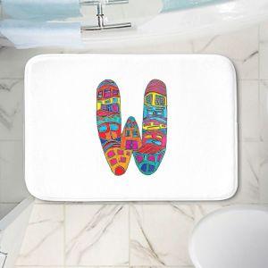 Decorative Bathroom Mats   Dora Ficher - Alphabet Letter W